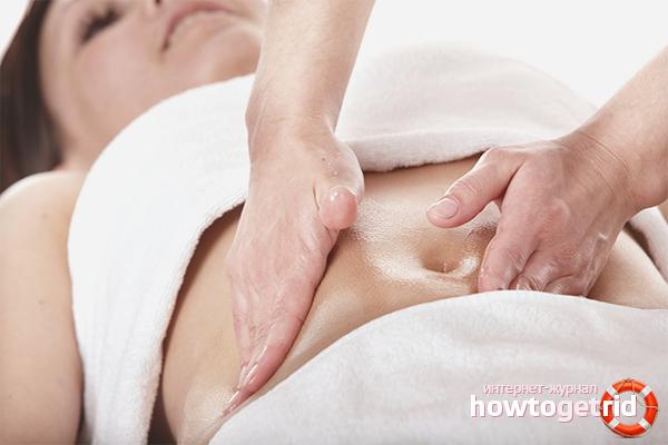 Как делать массаж живота для похудения