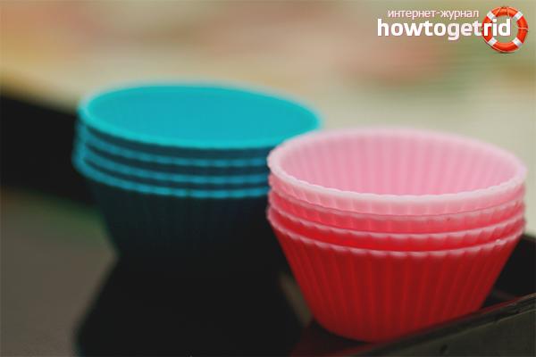 Как отмыть силиконовую форму для выпечки