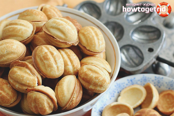 Как сделать орешки со сгущенкой: 3 способа