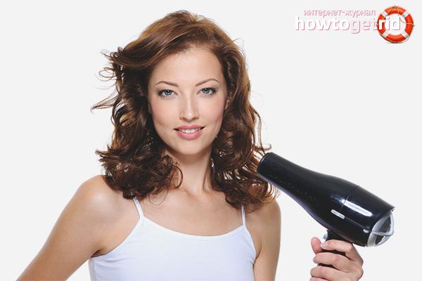 Как сушить кудрявые волосы