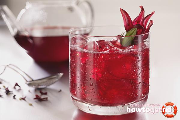 Как заварить чай каркаде холодной водой