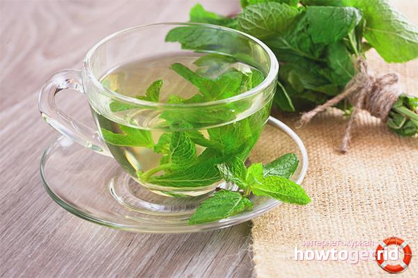 Мятный чай с газированной водой