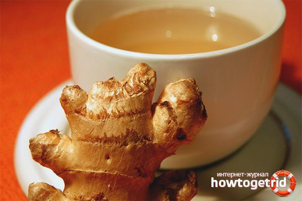 Чай с имбирем для лечения простуды