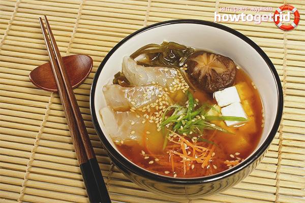 Мисо-суп с окунем