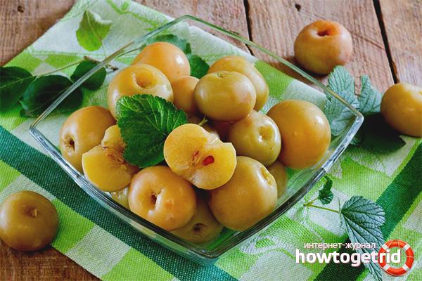 Мочёные яблоки с базиликом