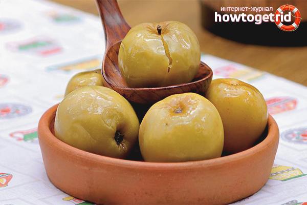 Мочёные яблоки с мёдом