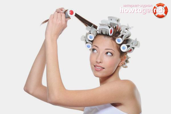 Накручивание волос волнами на бигуди