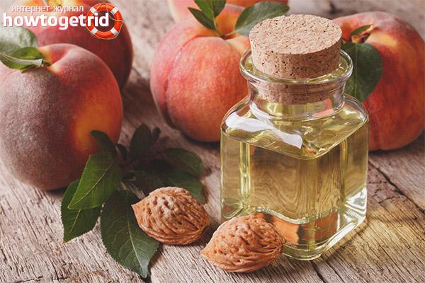 Применение персикового масла для волос