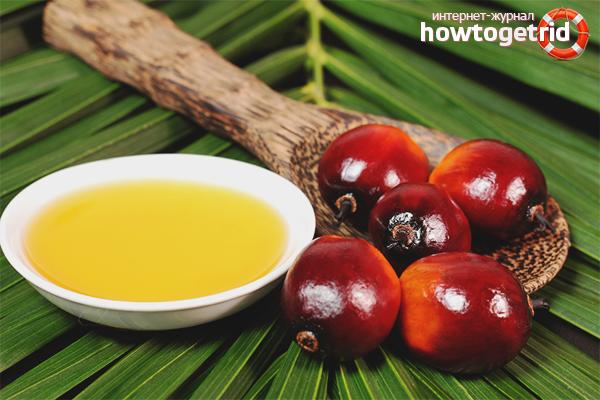 Использование пальмового масла для волос в чистом виде