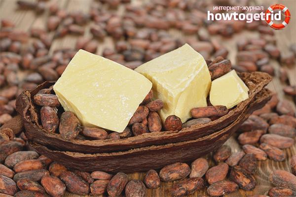 Какао-масло для питания волос по всей длине
