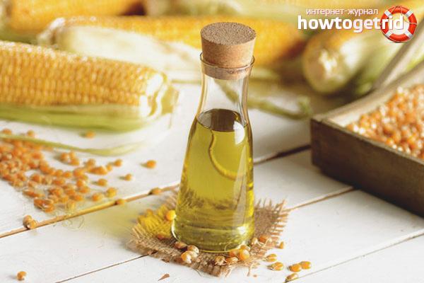 Кукурузное масло для увлажнения волос