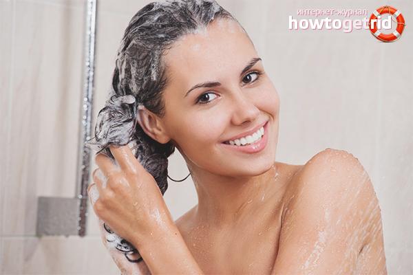 Мытьё окрашенных волос