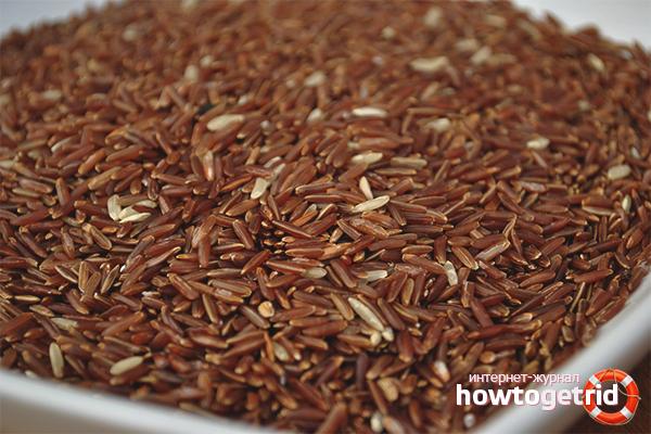 Состав и польза элементов красного риса