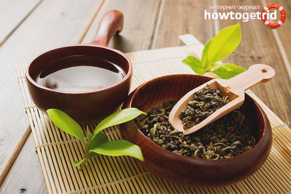 Ополаскивание волос чаем зеленым