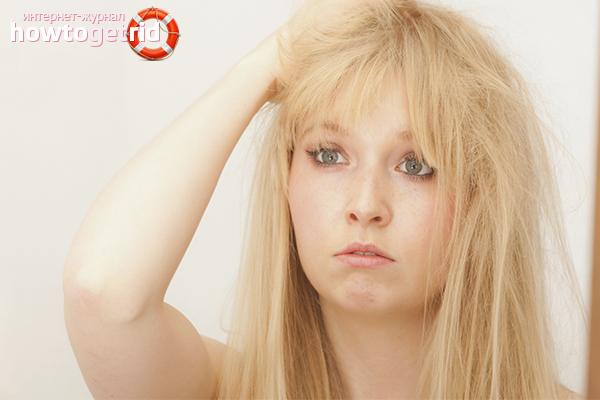 Что делать, если волосы секутся по всей длине