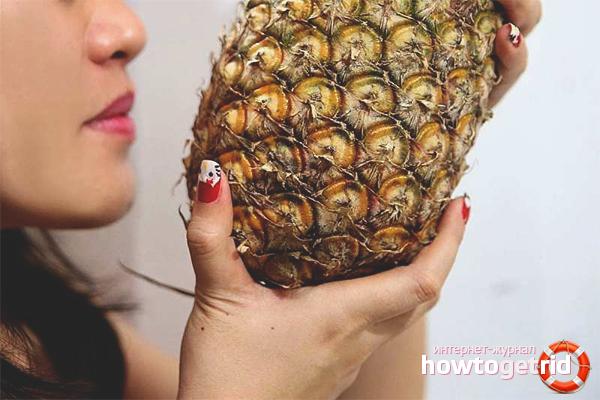 Как выбрать спелый ананас по запаху