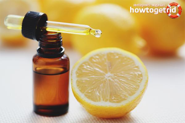Ванна с эфирным маслом лимона
