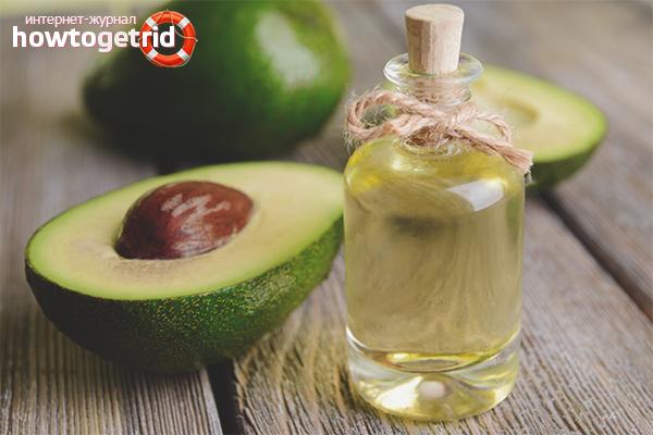 Применение масла авокадо