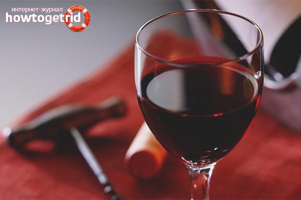 Лечение красным вином