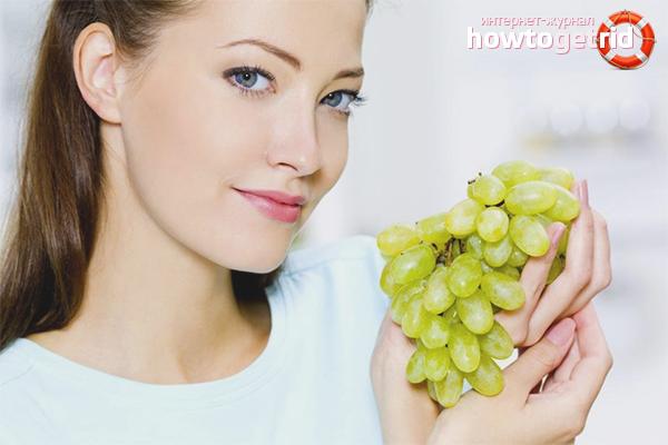 Польза винограда для женщин
