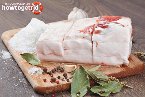 Свиное сало  польза и вред для здоровья организма
