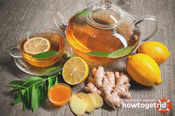 Полезные рецепты чая с имбирем от простуды
