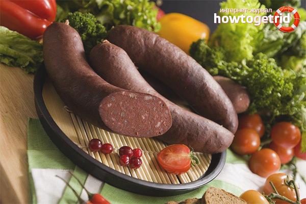 Польза и вред кровяной колбасы