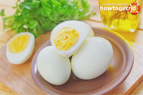 Польза и вред вареных яиц
