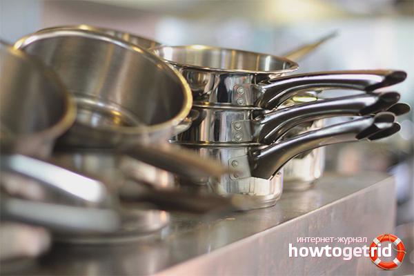 Как очистить алюминиевую посуду