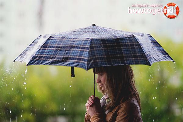 Как сушить зонт после дождя