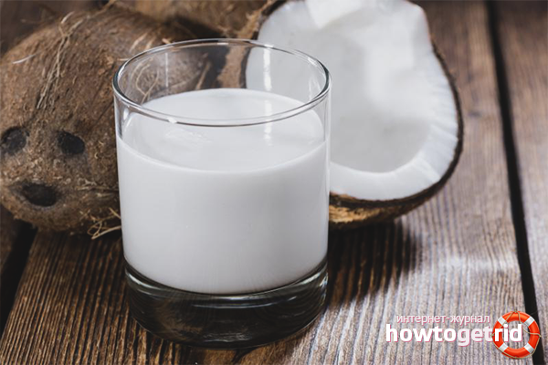 Кокосовое молоко для волос