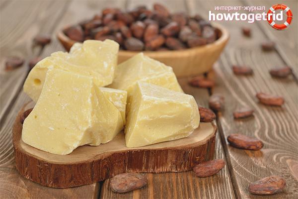 Применение масла какао в чистом виде