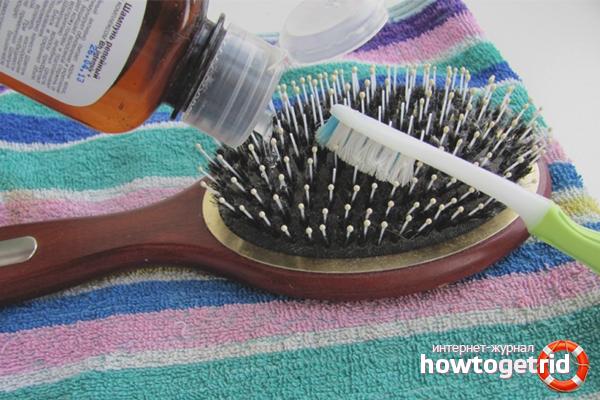 Средства для очистки расчёски