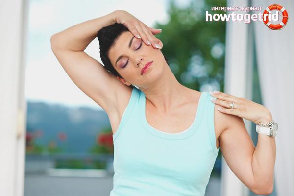 Упражнения для лечения хруста в шее