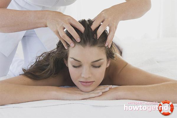 Массаж головы для роста и укрепления волос