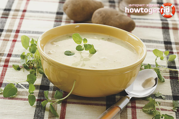 Молочный суп с картошкой