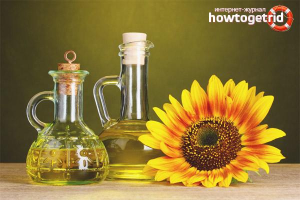 Польза подсолнечного масла
