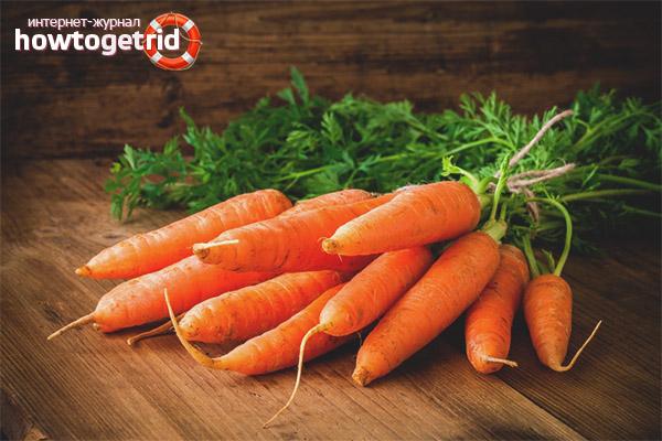 Противопоказания моркови