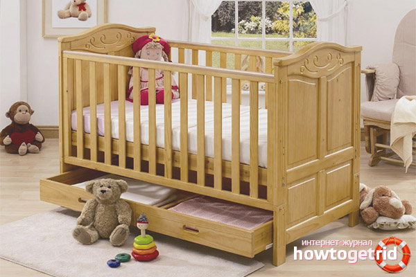 Классическая кровать для новорожденных