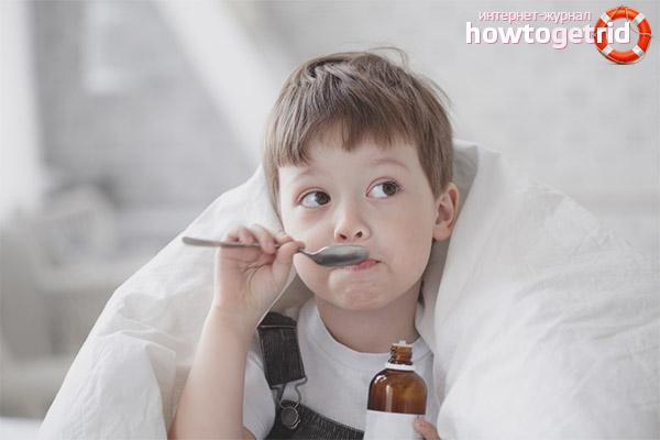 Лекарственные средства от кашля для детей