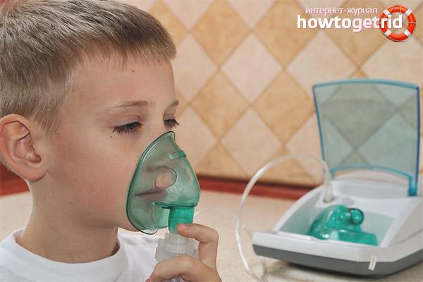 Паровые ингаляции от кашля для детей