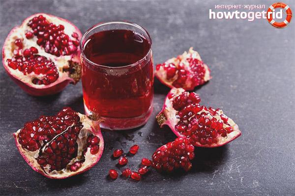 Полезные свойства и противопоказания гранатового сока