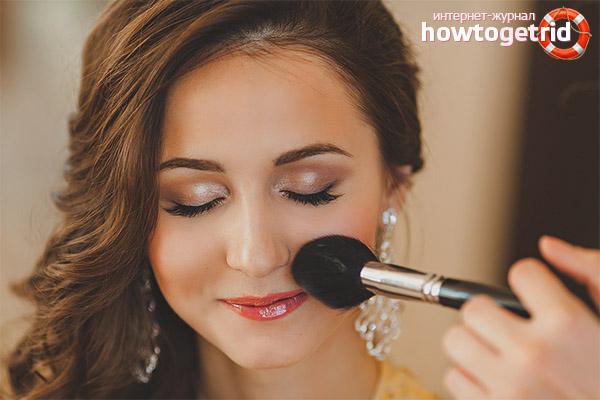 Выравнивание лица с помощью макияжа