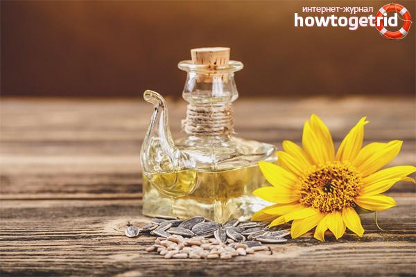 Методы использования подсолнечного масла при непроходимости кишечника