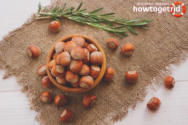 Польза и вред лесного ореха