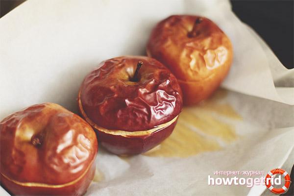 польза печеного яблока