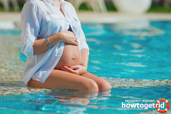 Противопоказания бассейна при беременности