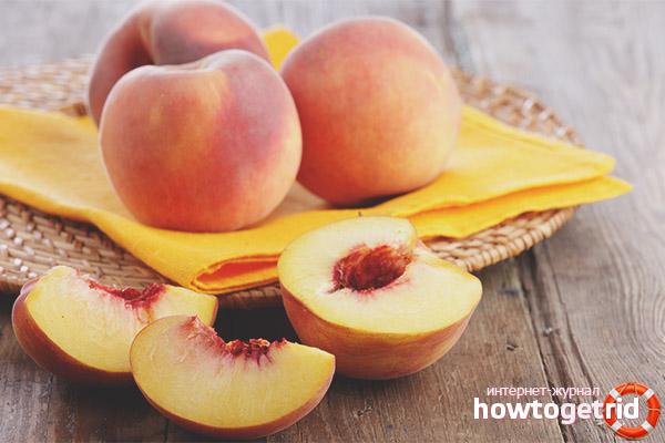 Вред персиков при грудном вскармливании