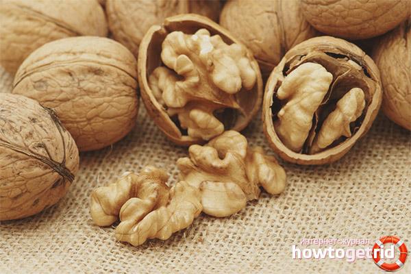 Грецкие орехи при сахарном диабете