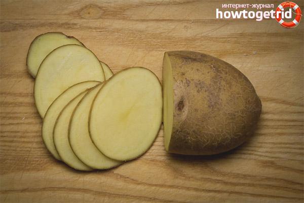Применение зелёного картофеля